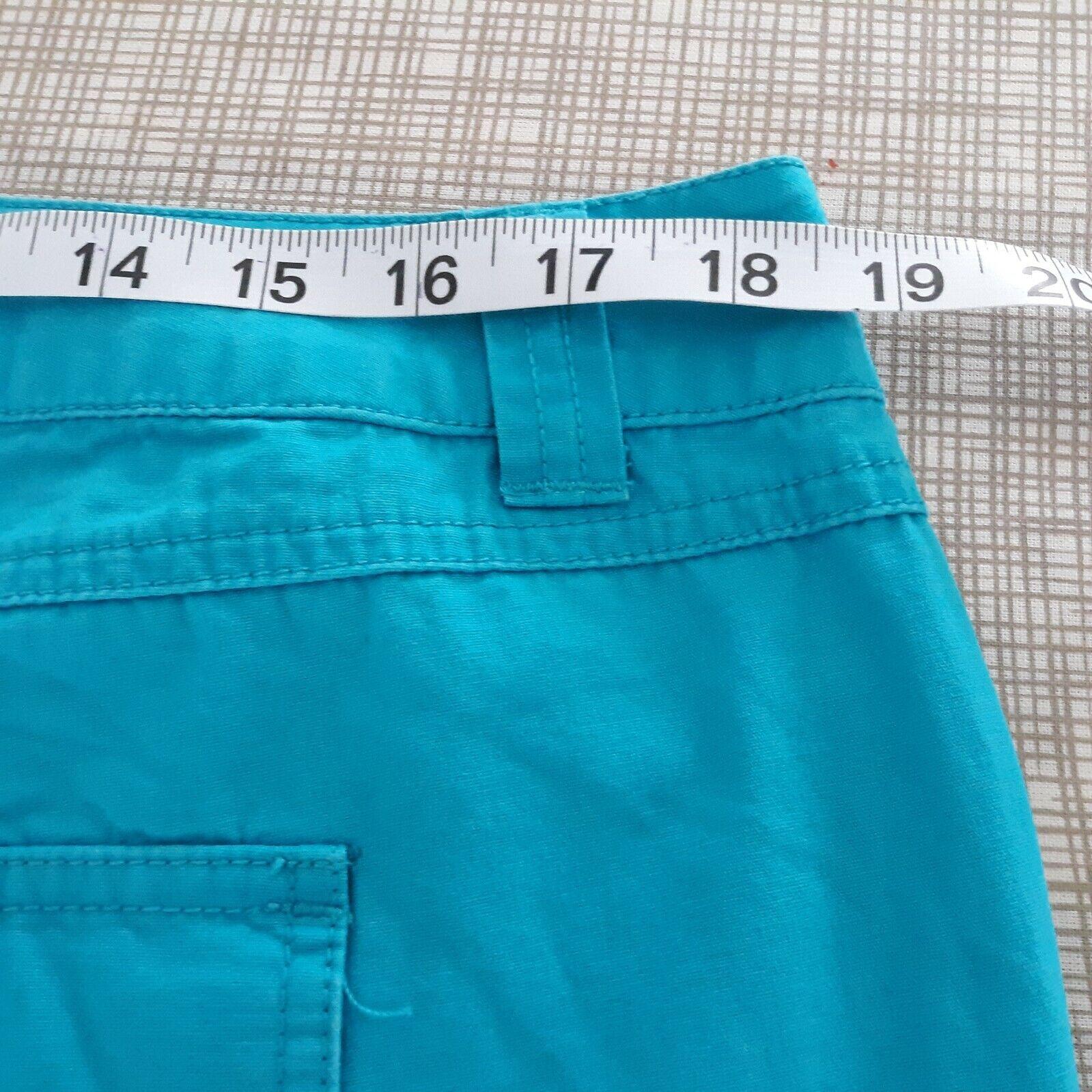 Venezia Turquoise Blue Cargo Capri Pants Women's … - image 9