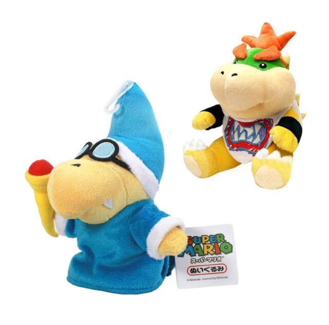 "Cute Bowser Soft Plush Doll Stuffed Toys 5/""-7/""Kids New Set Super Mario Bros"