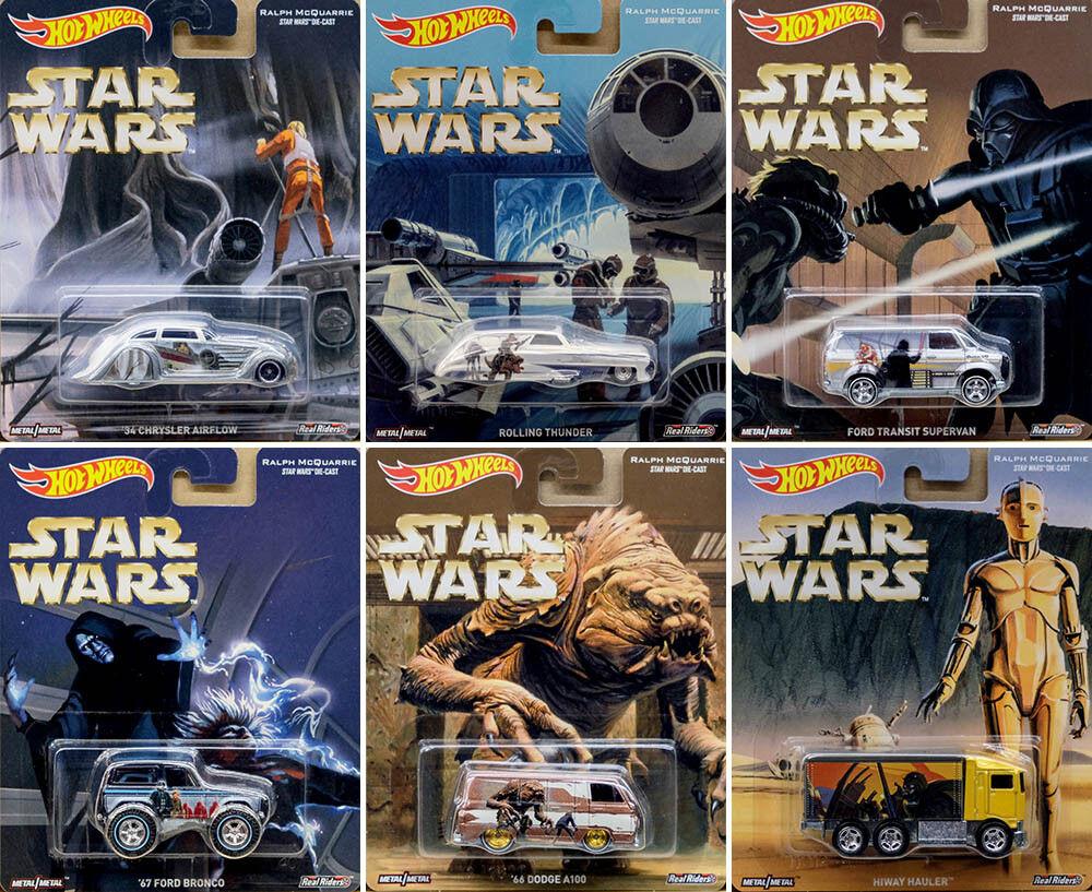 Star wars set Guerre des étoiles (6 modèle voitures) dans 1 64 Hot wheels dlb45