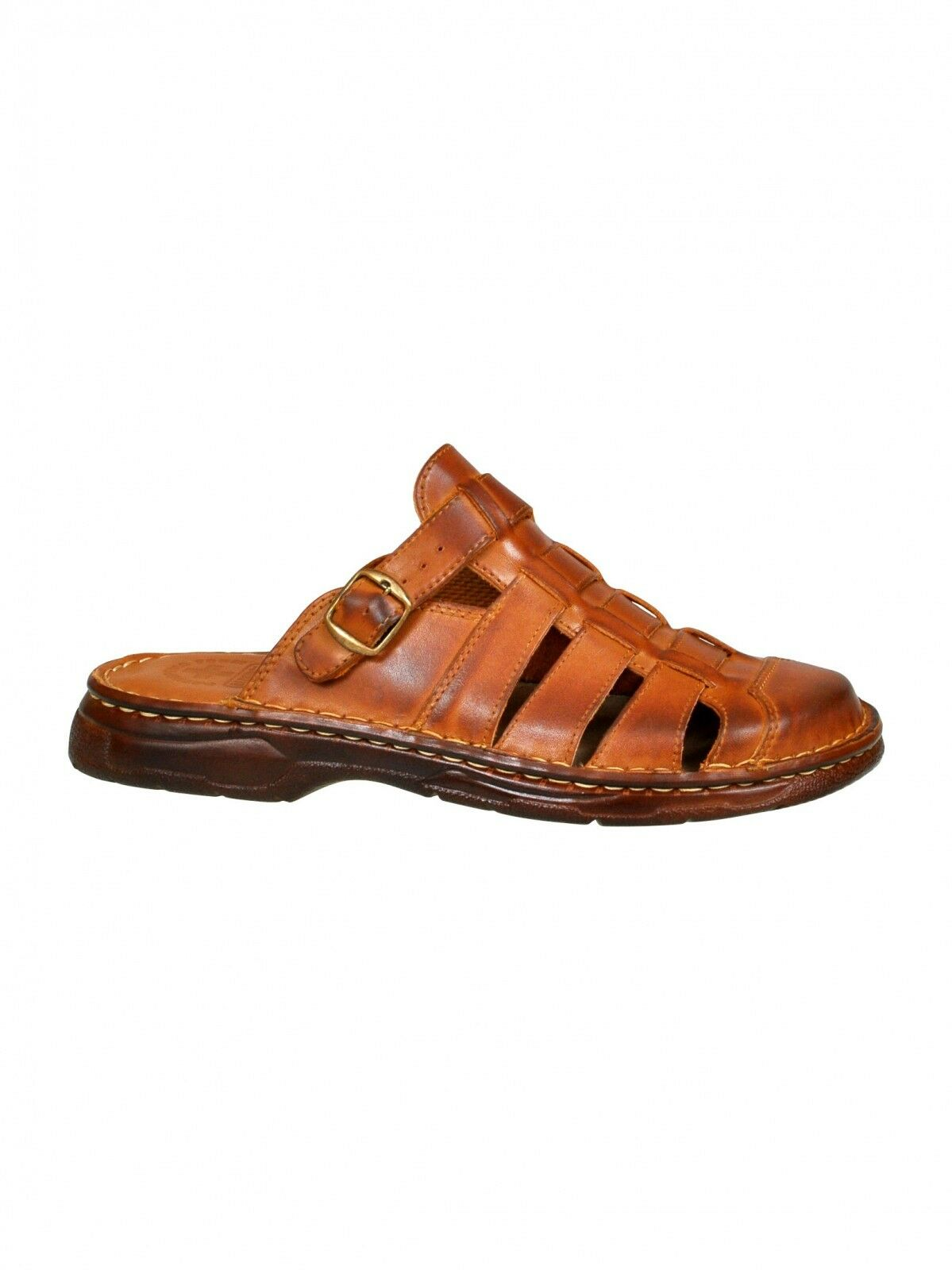 Men Sandals Slip On Shoes Orthopedic Form Comfortable Buffalo Leather UK Sz 7-11