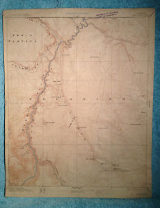Details about Arizona ECHO CLIFFS SHEET 1913 Grand Canyon, Rare USGS Recon  Topographic Map