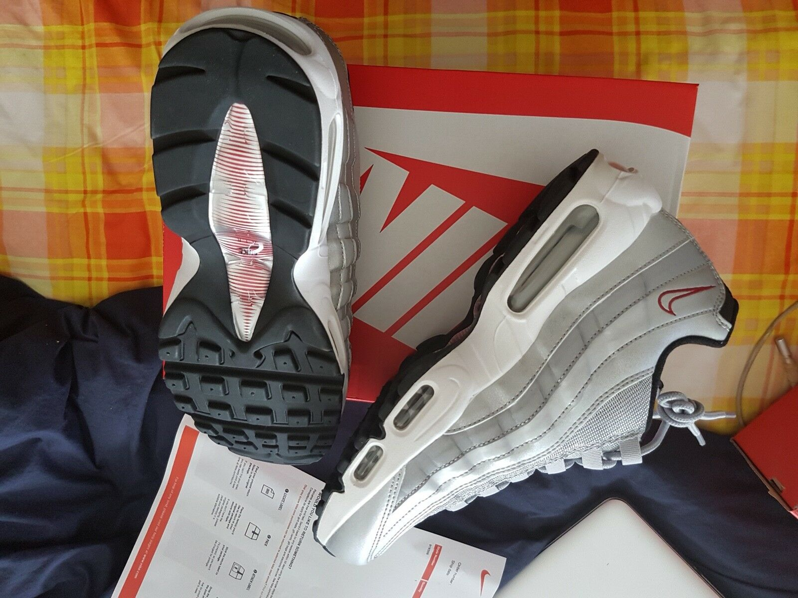 newest 2fed7 3e15d Nike Air Max 95 Silver Bullet UK 8.5 110108. US8 UK7 EUR41  US8.5 UK7.5 EUR42 US9.5 UK8.5 EUR43 US10 UK9 EUR44 US11 UK10 EUR45  US12 UK11 EUR46 ...