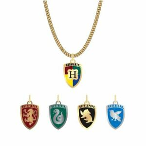 Harry-Potter-Hogwarts-House-Crest-Pendant-Necklace-4-Changeable-Charms