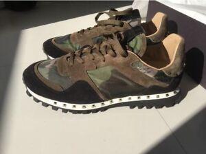 bbda934039 Image is loading New-Valentino-Garavani-Rockstuds-Camouflage-Camo-Men-Shoes-