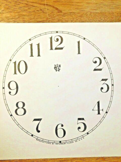 "Lot 187 4 1//2/"" Seth Thomas Clock Paper Dial Arabic Numeral"