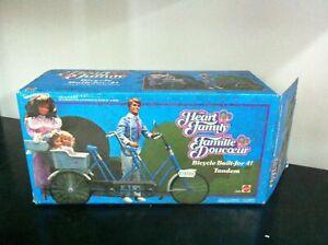 Mattel-TANDEM-Bicycle-per-Bambola-Famiglia-Cuore-for-Heart-Family-Dolls-MIB-1985