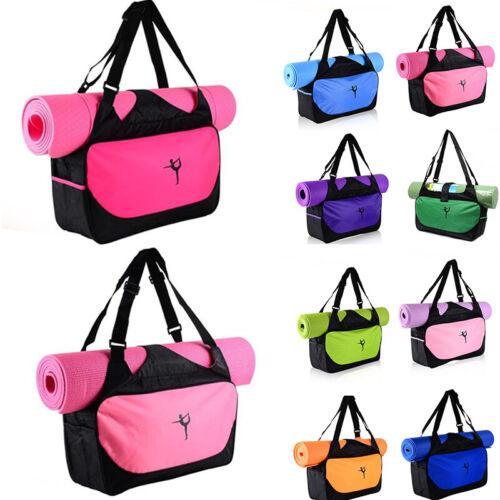 Waterproof Yoga Mat Tote Bag Adjustable Strap Shoulder Carry Fitness Pilates US