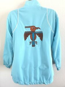 Jakke Broderet Vintage Turkis Xs Thunderbird Blå Haley Tehama Nancy Størrelse F7qqn0w6P