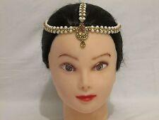 New Matha Patti Hijab Jewellery Chain Indian Tikka Head piece Bronze Gold Pearl