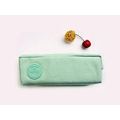 Trousse à crayons, trousse scolaire ou trousse maquillage série Macaron ( Vert )
