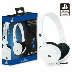 Auriculares para juegos Chat PS4 con Micrófono Blanco licencia oficial...