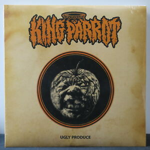 KING-PARROT-039-Ugly-Produce-039-Ltd-Edition-ORANGE-BLACK-Splatter-Vinyl-LP-NEW-SEALED