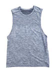 LULULEMON-Men-039-s-Metal-Vent-Tech-Grey-Sleeveless-Tank-Top-Shirt-Medium