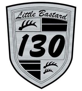 Logo-adhesif-grave-James-DEAN-Little-Bastard-Spyder-6-5cm-x-5cm-ep-1-6mm