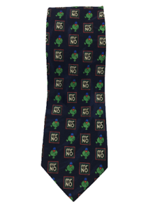 MITCH-DOWD-Mr-No-Roger-Hargreaves-1995-Mr-Men-Polyester-Tie-Length-148-cm