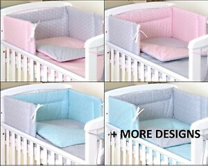 GEOMETRIC-DESIGN-Baby-BOY-GIRL-Bedding-Set-fit-Cot-120x60-or-Cot-Bed-140x70