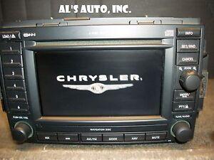 navigation radio rec 6cd dvd chrysler 300 dodge charger jeep grand cherokee. Black Bedroom Furniture Sets. Home Design Ideas