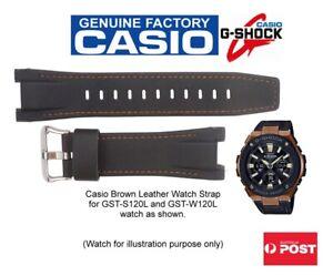 Casio-G-Shock-Genuine-Leather-Band-GST-S120L-1A-Dark-Brown-Part-No-10538348