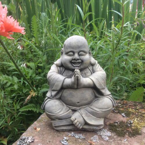 STONE GARDEN HAPPY PRAYING BUDDHA BUDDAH STATUE ORNAMENT