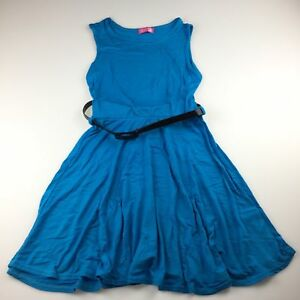 Girls-size-7-8-Sugar-Babe-soft-stretchy-summer-party-dress-belt-GUC
