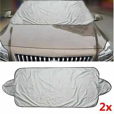 2x Prevent Snow Ice Sun Shade Dust Frost Freezing Car Windshield Cover Protector