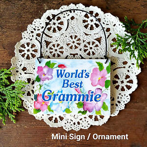 DECO-MINI-SIGN-World-039-s-Best-Grammie-Wood-Ornament-Gift-Decorative-Greetings-USA