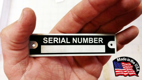 DATA PLATE SERIAL NUMBER HOT ROD RAT CHEVROLET PLYMOUTH DODGE FORD TRAILER TAG