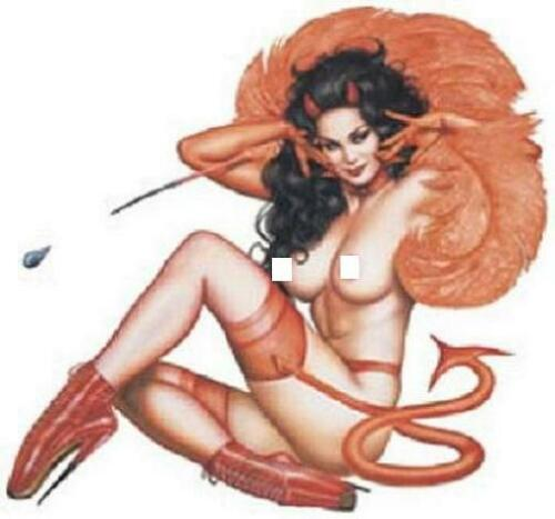 Hell/'s Belle STICKER Decal Pin Up Art Olivia OL24