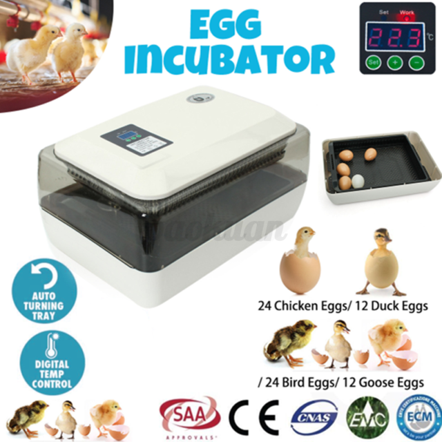 JANOEL 24 Eggs Incubator Automatic Digital Hatch Chicken Duck Poultry Turning AU