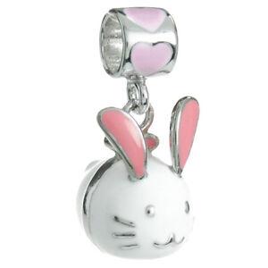 Sterling-Silver-Lovely-Easter-Rabbit-Enamel-Dangle-for-European-Charm-Bracelet