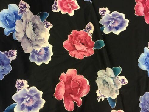 """Nuevo Diseñador De Moda Multicolor Grande Floral Buceo material de tela de tela 55/"""""""