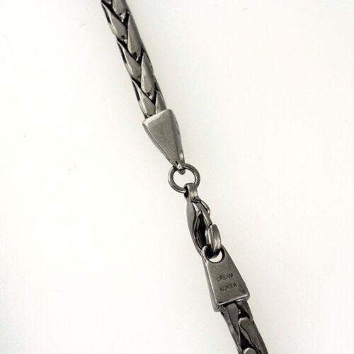 5 mm 38 inch Black Out Diamond Cut Franco Chain Fashion Necklace