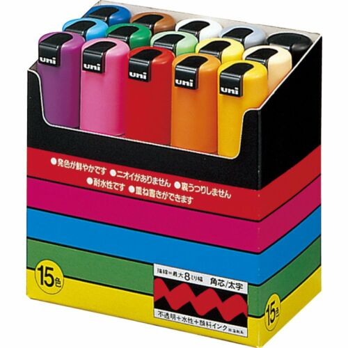 Uni Posca PC-8K 15 Color Markers set 8mm Freeshipping