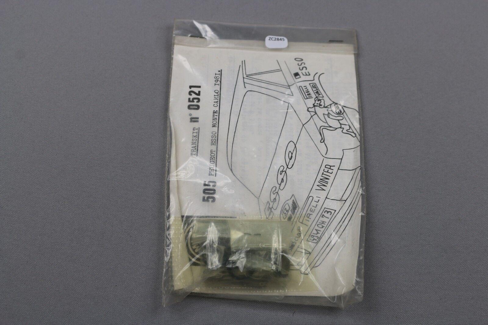 ZC2845 Mini Racing Racing Racing 1 43 voiture 0521 transkit peugeot 505 esso monte carlo 1981 447aae