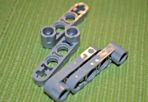 (4) Light Gray #4 Beams [+OO+] w/ One Thick + End Technic Beam ~ NEW ~ Lego