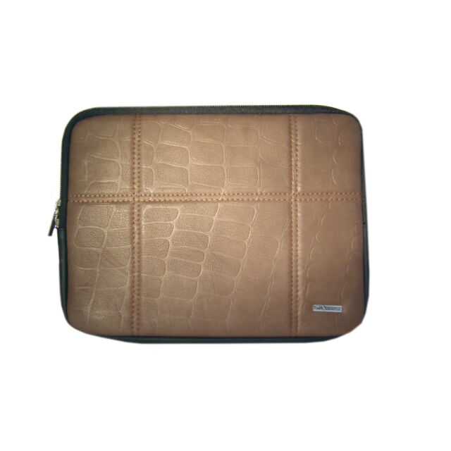 Brown iPad 3/2 Bubble Sleeve Soft Bag Interior Foam lining Cushions With Stand