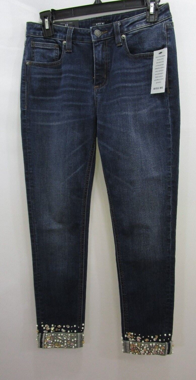 MISS ME EMBELLISHED ANKLE SKINNY JEANS SZ 27 NEW WITH TAG