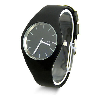Stylish Women's Super Soft Jelly Silicone Sports Watch Students Wrist Watch