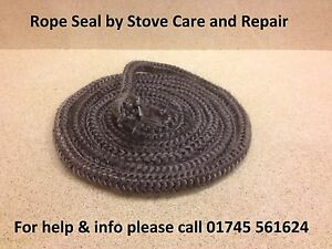 Multi fuel wood stove door 10mm soft black rope seal per metre for 14mm stove door rope