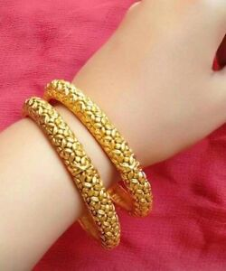 Image Is Loading 18k Gold Plated Bracelets Bangles Pretty Ethnic Indian