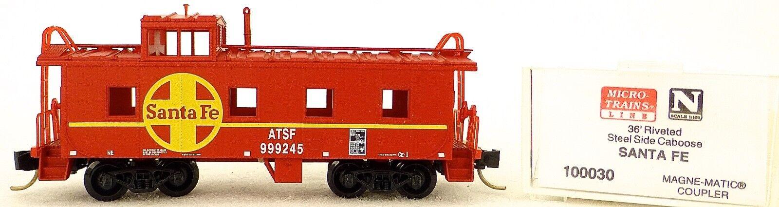Micro Trains Line 100030 Santa Fe 999245 36' Riveted Steel Caboose 1:160  F Å