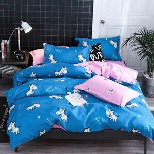 Cartoon-Printing-Bedding-Set-Duvet-Quilt-Cover-Sheet-Pillow-Case-Four-Piece-Set