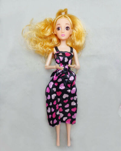 7pcs//set Casual Clothes Long Dress For 11.5inch Doll Vest Dress For 1//6 BJD Doll