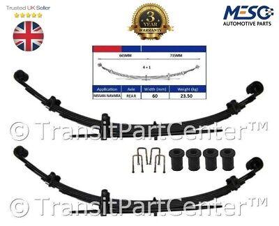 Brioso 2 X Heavy Duty 4+1 = 5 Molla A Balestra Adatto Per Nissan Navara 4x4 D40 2.5 Dci 2005 Su- Styling Aggiornato