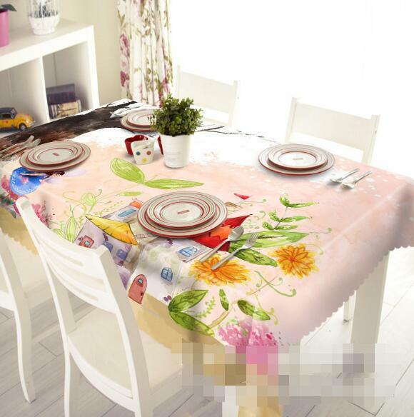 3D Elf House 206 Tablecloth Table Cover Cloth Birthday Party Event AJ WALLPAPER