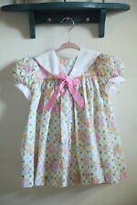 Vintage girls toddler floral dress