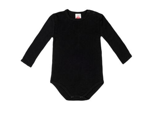 Baby Body schwarz Langarm Größe 62 68 74 80 86 92 98 104  Mädchen Junge