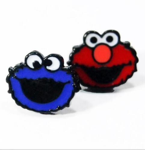 Hot Sesame Street Elmo Cookie Earring Ear Stud Boucles d/'oreilles Clous Bijoux Unisexe
