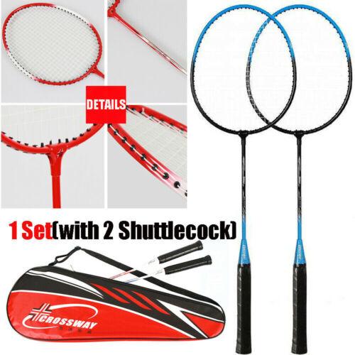 2pcs Professional Badminton Rackets Set Kid Adult Double Badminton Rackets+Ball