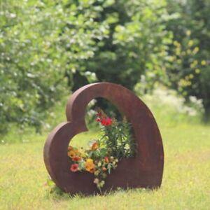 Vidroflor metall herz zum bepflanzen gro in rost ebay for Gartendeko zum bepflanzen